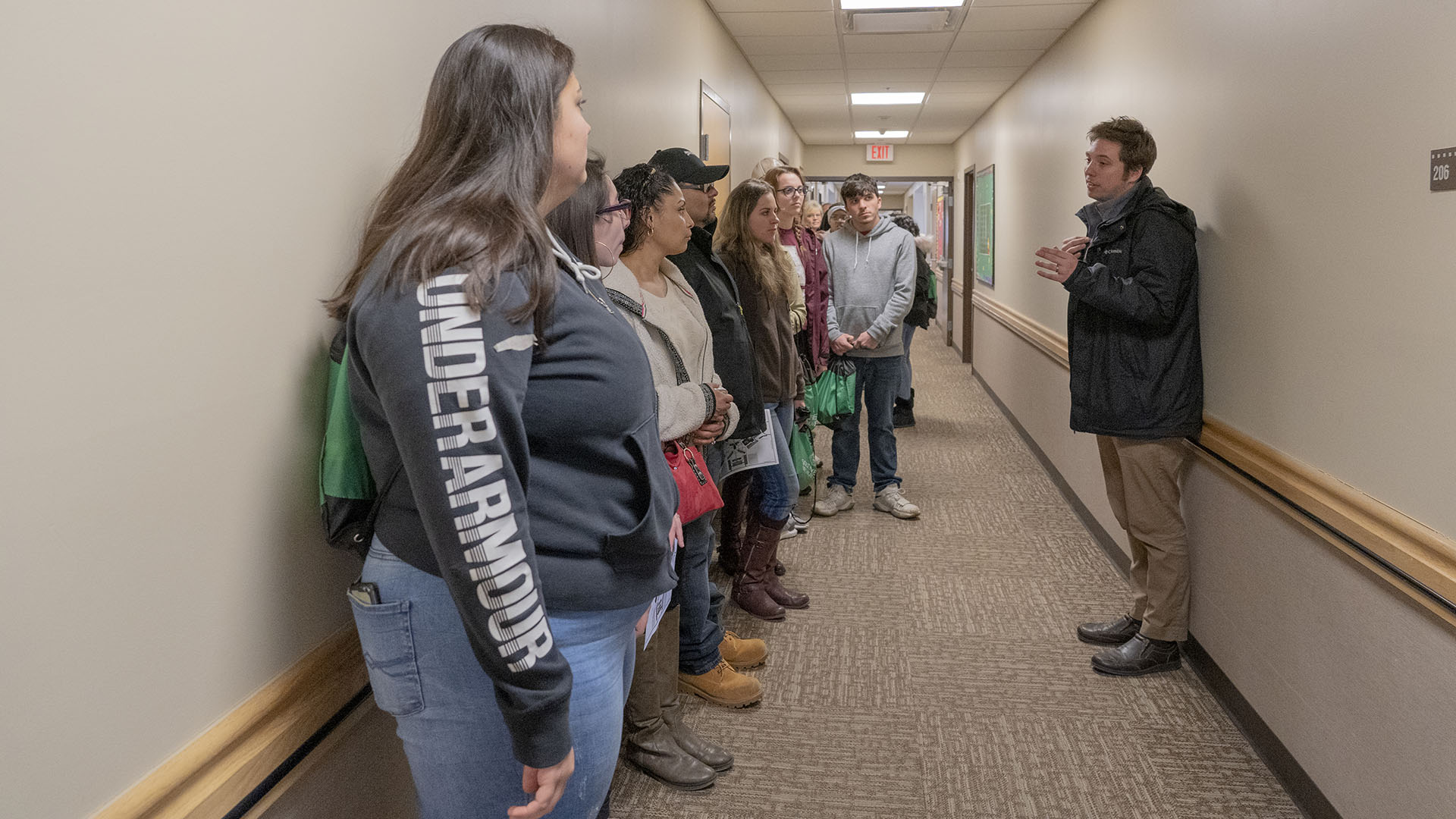Students tour the residence halls