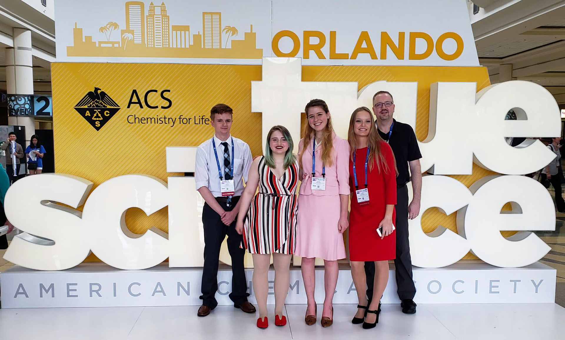 Students at the ACS conference in Orlando