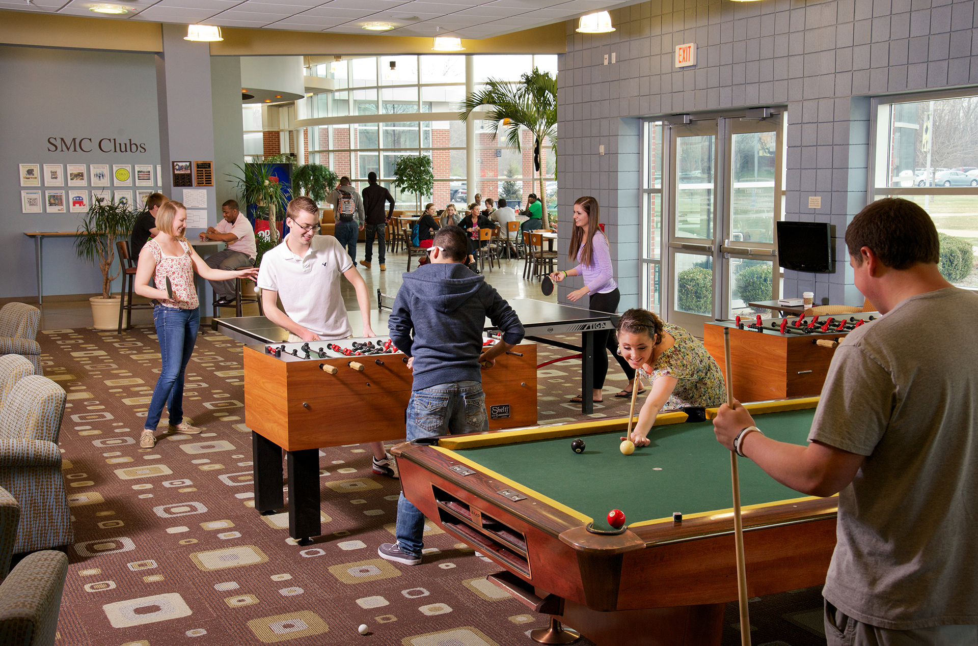 The game room in the SAC